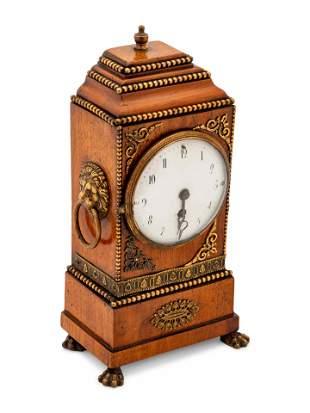 English Regency Bracket Clock height 11 1/2 inches