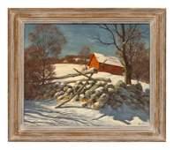 George M. Bruestle (American, 1871-1939) Untitled (Barn