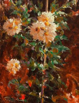 Ramon Kelley (American, b. 1939) Garden Flowers