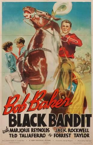 Vintage Movie Poster, Black Bandit 40 x 26 inches