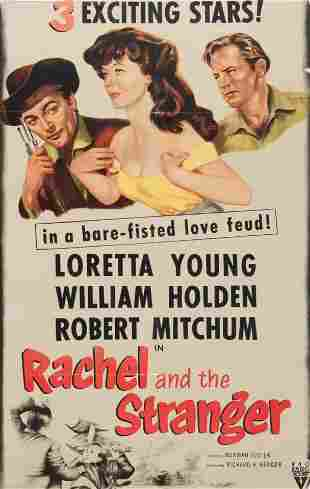 Vintage Movie Poster, Rachel and the Stranger 38 x 25