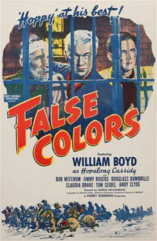 Vintage Movie Poster, False Colors 37 x 25 inches