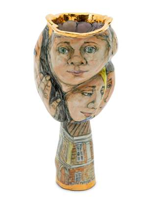 Marylou Higgins (American, 1926-2012) A Ceramic Face