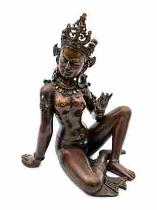 A Bronze Southeast Asian Deity height 14 inches