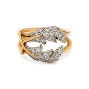 TIFFANY  CO., SCHLUMBERGER, DIAMOND 'TWO LEAVES' RING