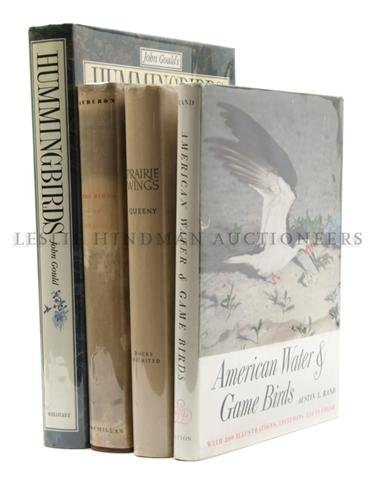 18: (ORNITHOLOGY) A group of four folio-sized books.