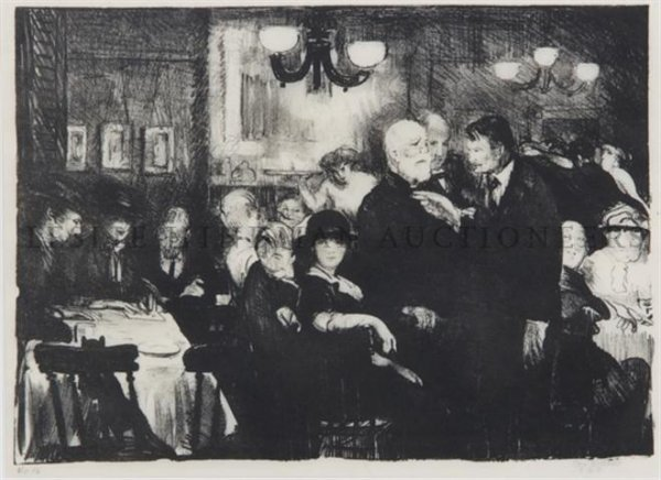 4: George Wesley Bellows, (American, 1882-1925), Artist