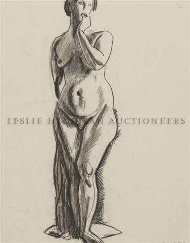 6: George Wesley Bellows, (American, 1882-1925), Standi