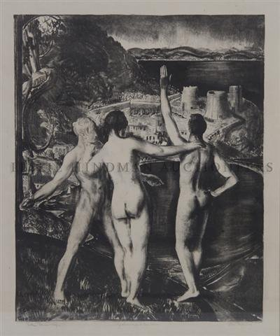 13: George Wesley Bellows, (American, 1882-1925), Lychn