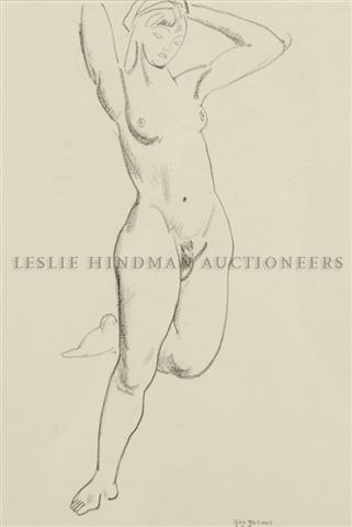 18: George Wesley Bellows, (American, 1882-1925), Nude