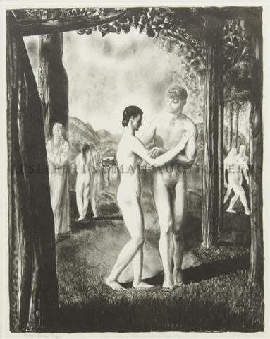 20: George Wesley Bellows, (American, 1882-1925), The L