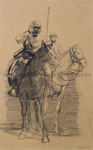 23: George Wesley Bellows, (American, 1882-1925), Caval