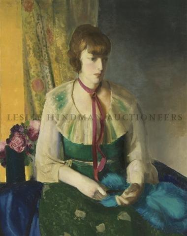 49: George Wesley Bellows, (American, 1882-1925), Lady