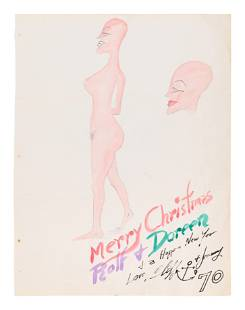 HC Westermann (American, 1922-1981) Untitled (Merry