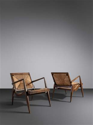 Mexican Mid 20th Century Pair of Lounge Chairs