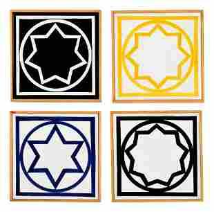 Sol LeWitt (American, 1928-2007) Untitled (Four Tiles),