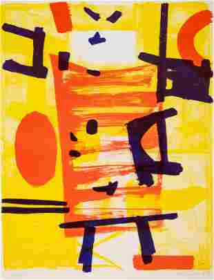 Emerson Woelffer (American, 1914-2003) Untitled, 1954