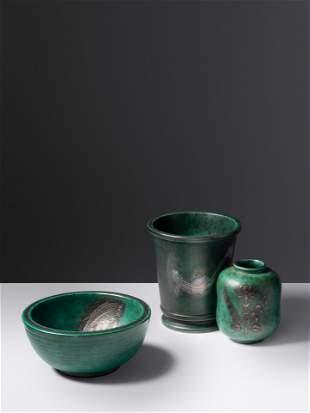 Wilhelm Kage (Swedish, 1889-1960) Three Argenta Pieces