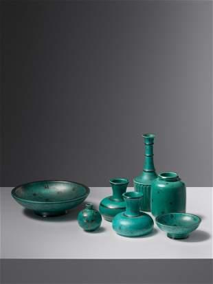Wilhelm Kage (Swedish, 1889-1960) Seven Argenta Pieces