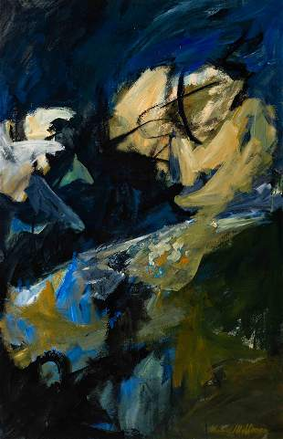 Edward Millman (American, 1907-1964) Baroque Blue, 1960