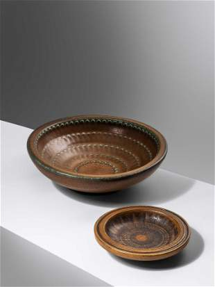 Wilhelm Kage (Swedish, 1889-1960) Two Bowls