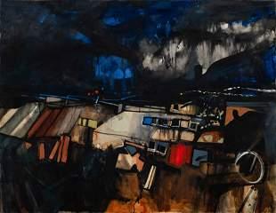 John Hultberg (American, 1922-2005) Cloud Drama, 1963