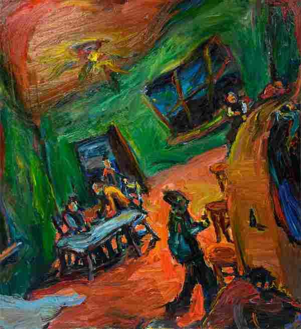 Chuck Connelly (American, b. 1955) Untitled (Bar Scene)