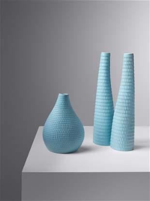 Stig Lindberg (Swedish, 1916-1982) Three Reptil Vases