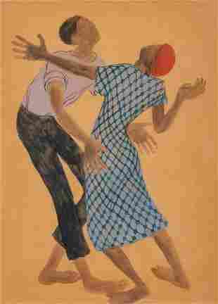 Margo Hoff (American, 1912-2008) Dancers(a pair of