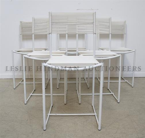 A Set of Six Contemporary Side Chairs, Height 33 inches