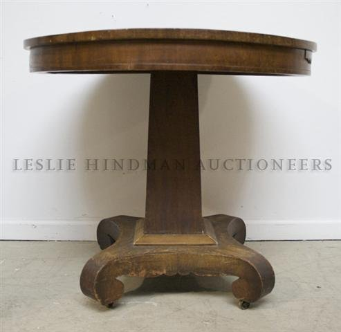 An Empire Occasional Table, Height 26 1/2 x diameter 30
