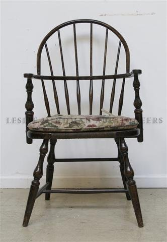 A Windsor Style Armchair, Height 38 inches.