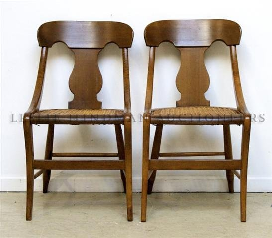 A Pair of Side Chairs, Height 31 1/2 inches.