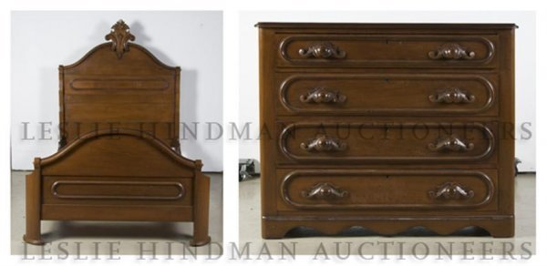 An American Victorian Bedroom Suite, Height of chest 32