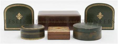 A Collection of Leather Desk Articles Height of talles