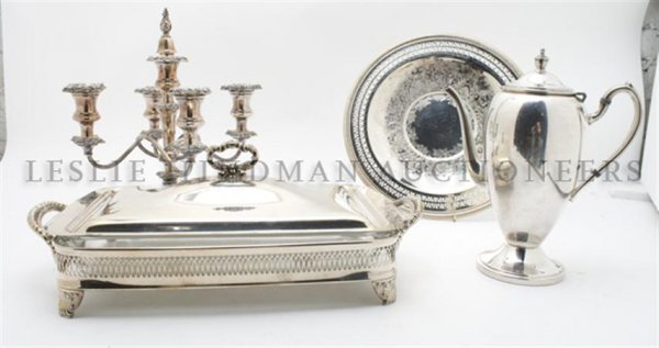 A Collection of Silverplate Serving Articles, Height of