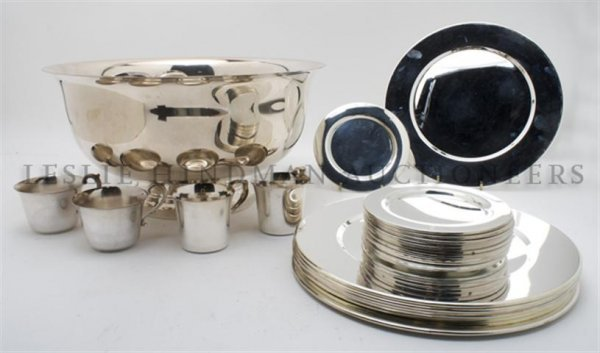 A Collection of Silverplate Articles, Diameter of punch