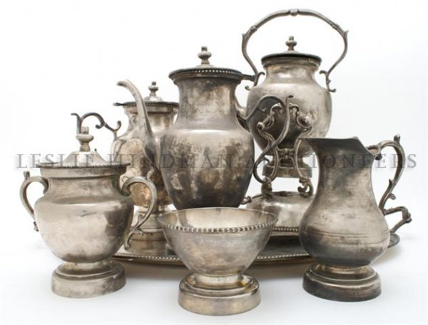 A Silverplate Coffee and Tea Service, Maker Unknown, Wi