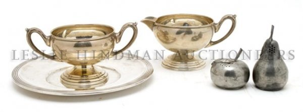 An American Sterling Silver Creamer and Sugar Set,