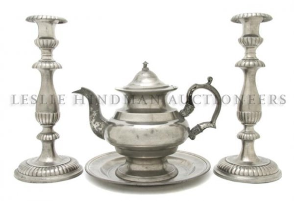 A Collection of American Pewter Articles, Diameter of f