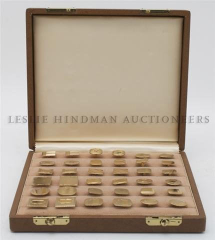 A Collection of Yellow Gold Cufflinks,