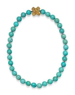CHRISTOPHER WALLING, TURQUOISE BEAD NECKLACE