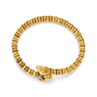 YELLOW GOLD COLLAR NECKLACE