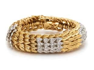 BICOLOR GOLD AND DIAMOND BRACELET