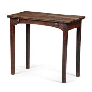 A George III Oak Writing Table