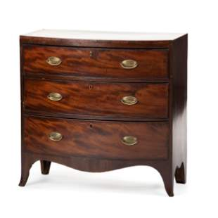 A Regency Style Mahogany Bowfront Chest of Drawers