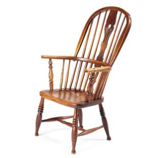 An English Pierced Splat and Comb-Back Windsor Armchair