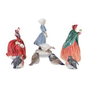 Royal Doulton and Royal Copenhagen Porcelain Figures