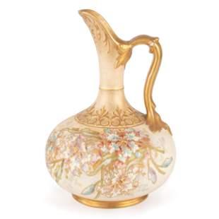 A Royal Bonn Porcelain Jug with Hand-Painted Floral