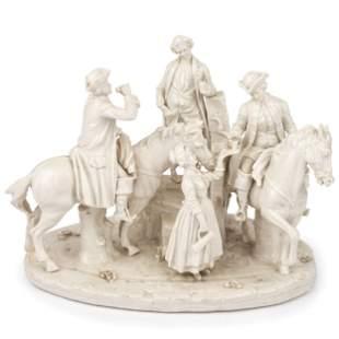 A German Blanc-de-Chine Porcelain Figural Group